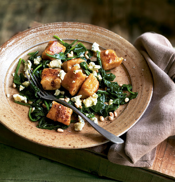 Sweet Potato And Parsnip Gnocchi With Blue Cheese And Pine Nuts Recipe ...