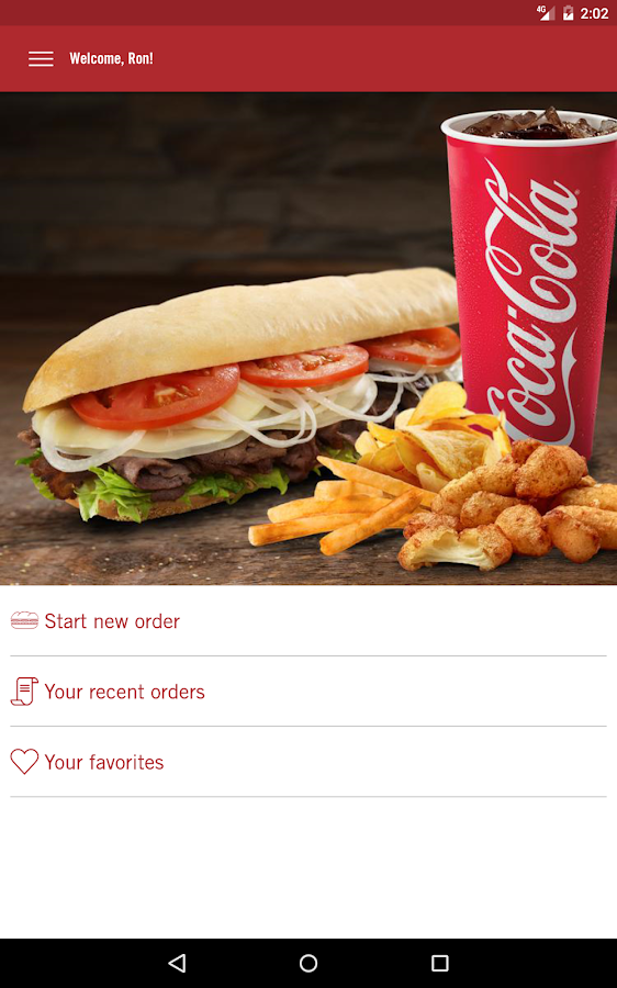 Cousins Subs Ordering- screenshot