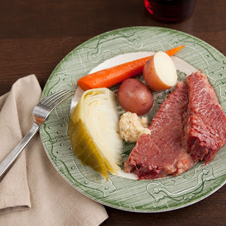 Slow Cooker Corned Beef with Cabbage, Carrots and Potatoes.