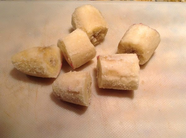 Add chopped banana and blend until smooth.  Taste and add more honey if...