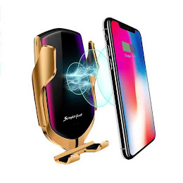 Incarcator auto wireless universal Fast Charger 10W, clema ventilatie, Gold
