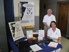 Photo: 3-24-2012. Bill and Grace Day tend our club booth at the town of Sandwich's Wellness Fair. Club member Nancy Spalding produced the lovely signs.