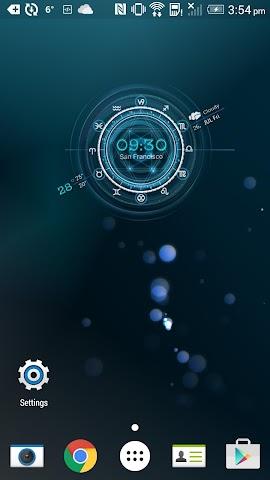 android Sydney Weather Clock Horoscop Screenshot 1