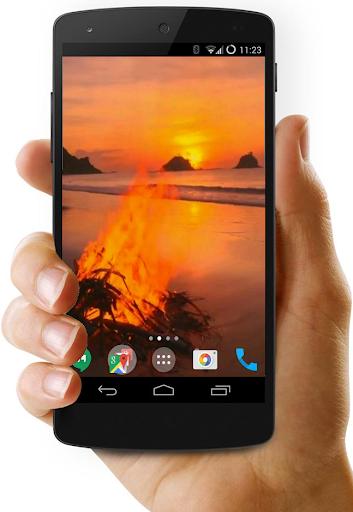 Bonfire Video Live Wallpaper