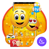 Funny Emoji APUS Launcher Theme Android APK Download Free By Cool Theme Team