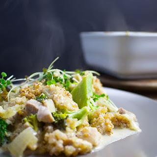 Chicken and Broccoli Casserole with Quinoa Crumble
