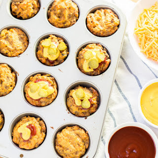 Gluten Free Mini Cheeseburger Muffins