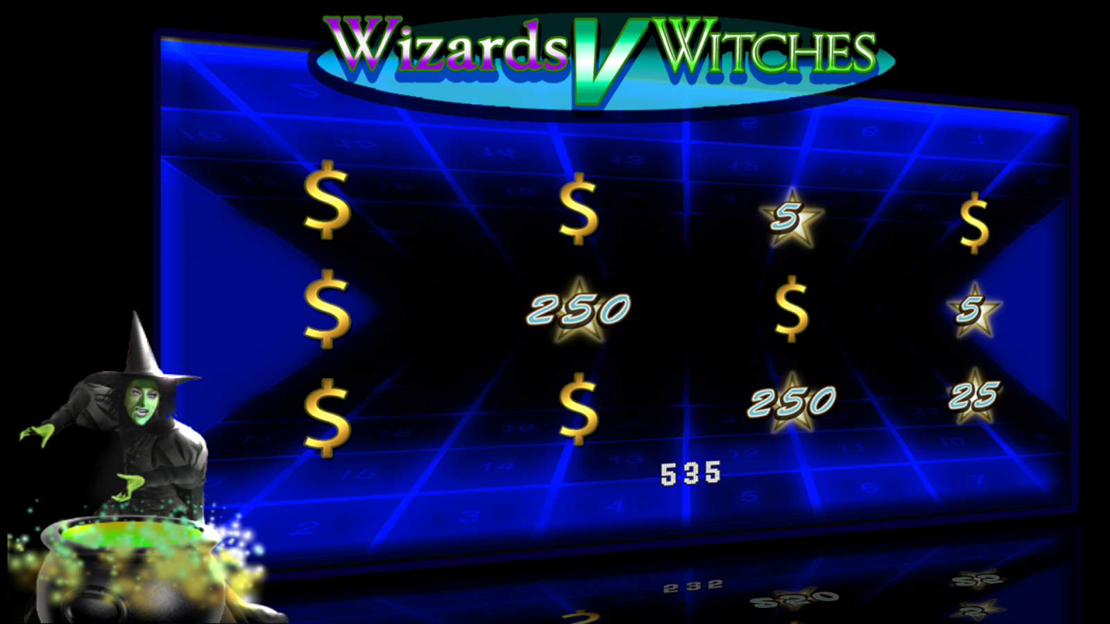 Wizards V Witches video slots- screenshot