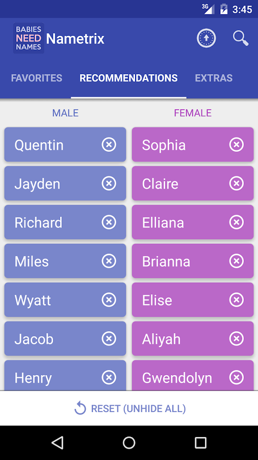 Baby Names by Nametrix- screenshot