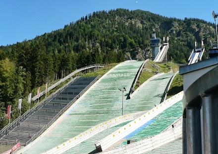Oberstdorf Spaziergang Sprungschanze Schisprungstadion Spaziergang