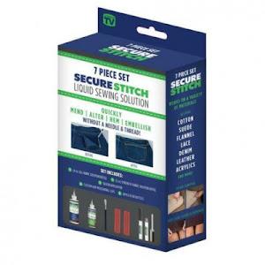 Kit pentru lipire tesatura sintetica, 7 piese - Secure Stitch