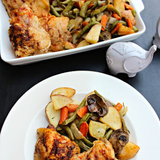 Oven-Roasted Chicken and Vegetables.