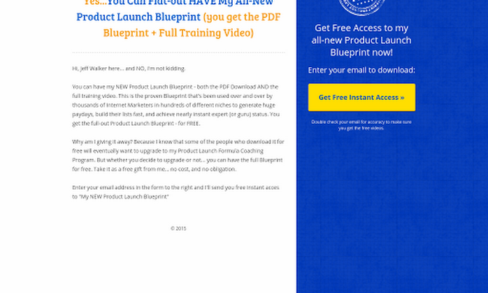 Blueprint opt in from jeff walker leadpages marketplace malvernweather Image collections