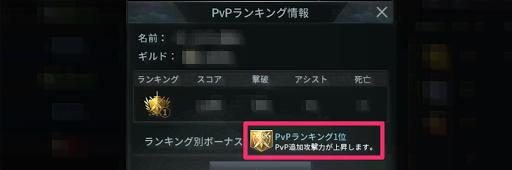 PvPランキングバフ