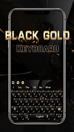 black gold keyboard screenshot 1