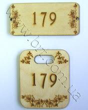 Photo: Комплект деревянных номерков: дверной, номерок для ключей