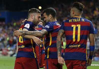 Barcelona pakt de Spaanse Beker tegen Sevilla na heerlijke assist van Lionel Messi op Jordi Alba
