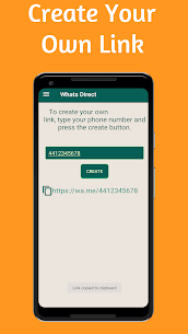 WhatsDirect – Direct Chat Without Saving Contact 6