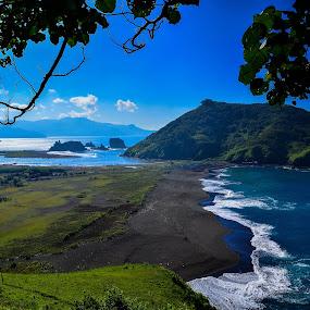 View From Payangan Hill by Shohibul Huda - Landscapes Beaches ( jember, payangan beach, pantai payangan, indonesia, east java, payangan, beach, view, landscape )