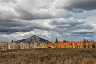 Photo: Hahn Peak with red aspen