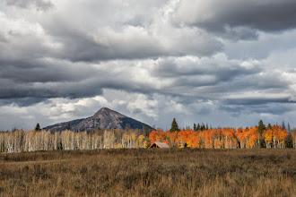 Photo: Hahn Peak with red aspen