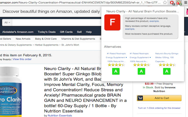 Evalute Amazon Reviews Lemur (Earl)