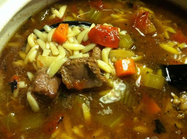 Hearty Beef Vegetable Pastina Soup Recipe