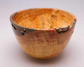 "Photo: Tina Chisener 6 1/2"" x 4"" bowl [pine]"