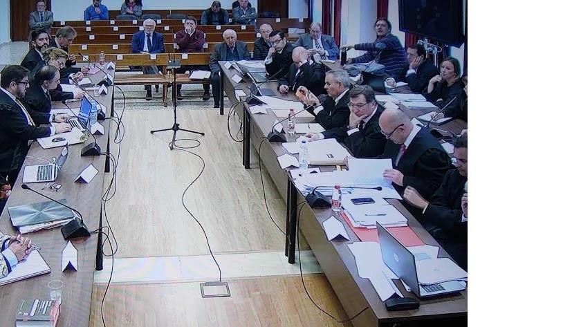 Sala del juicio del Caso Poniente