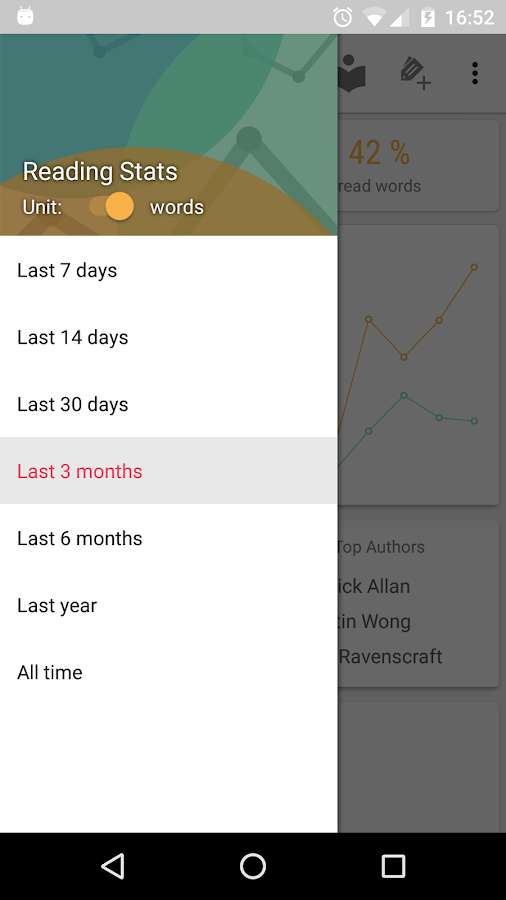 Reading Stats in Your Pocket- screenshot