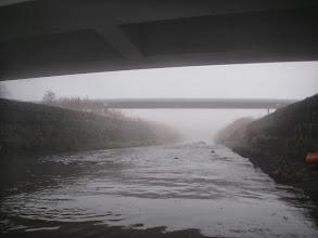 Photo: Kolejny mostek i spore obwałowania