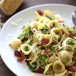 Orecchiette with Bacon and Caramelized Brussels Sprouts.