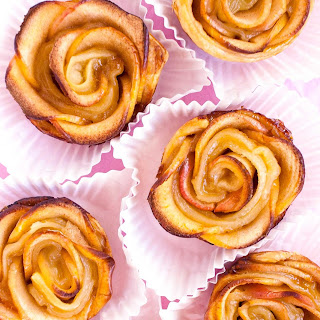 Puff Pastry Apple Roses.