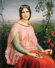Photo: Louis Janmot Les fleur des champs The Flowers of the Field (alternative: Wildflower) 1845 oil on wood 100.3 x 83 cm Musée des Beaux-Arts, Lyon Inv. B 502