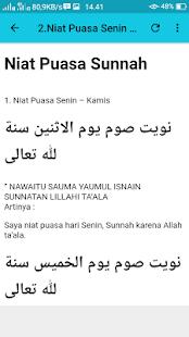 Kumpulan Niat Puasa Sunnah dan Wajib - náhled