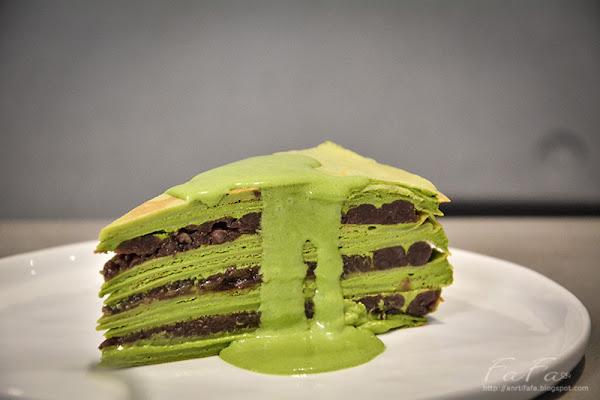 Matcha One-台北東門永康街 新時代抹茶紅豆千層蛋糕 鬆餅 焙茶拿鐵
