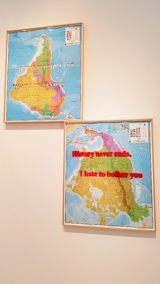 Proposal for America by Sam Durant. Displayed at Broad Contemporary Art Museum at LACMA