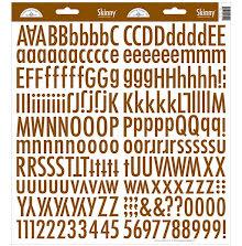Doodlebug Skinny Cardstock Alpha Stickers - Bon Bon
