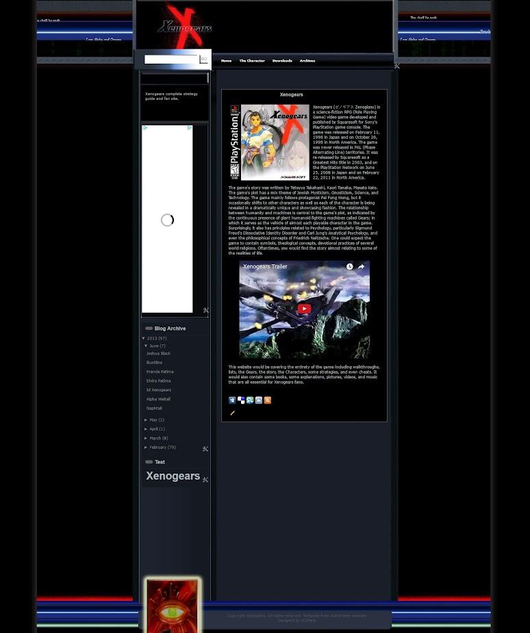 Xenogears: Alpha Omega on a demo site