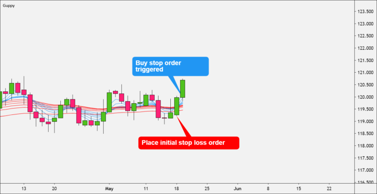 Place initial stop order loss