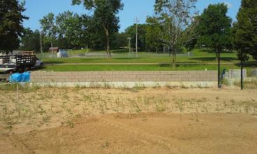 Photo: Backstop Masonry wall 7-28-2014