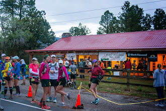 Photo: Before start of 50 km race, at the Los Alamos Posse Shack; Jemez Mountains Trail Run, May 2014