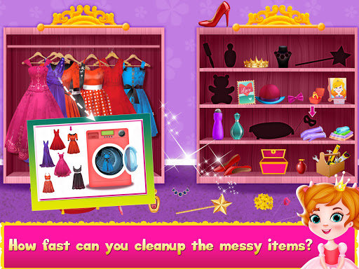 Princess Doll House Cleanup & Decoration Games screenshots 4