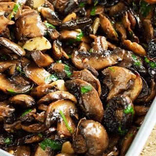Baked Garlic Parsley Mushrooms.