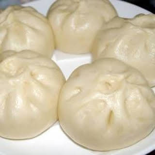 Chinese Steamed Buns with BBQ Pork Filling.