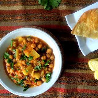 Aaloo Chholay/Chana or Potato and Chickpea Curry