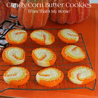 Candy Corn Butter Cookies