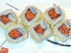 Photo: Spicy Crunchy Tuna Roll : Spicy Tuna Roll rolled on crunchy tempura crumbs.