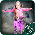 Animated Rain on Photo:Gif icon