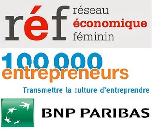 Logo ref et 100000 entrepreneurs